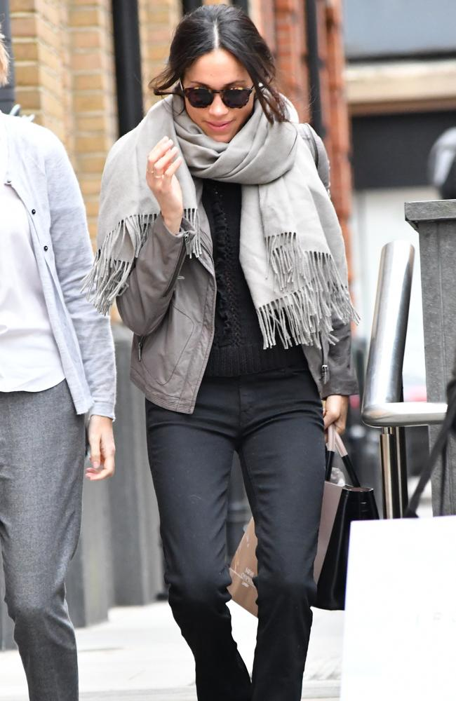 Now based in London, Meghan was spotted Christmas shopping in the UK capital last week. Picture: LDNPIX/MEGA