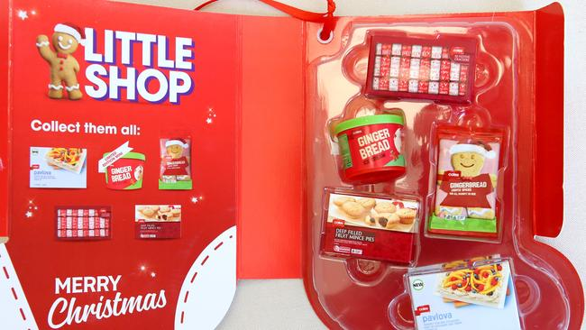 Coles has brought out a limited-edition range of Christmas Little Shop products in an effort to bring shoppers through the door. Picture: David Caird