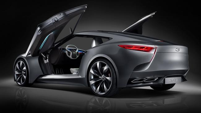 Sorry, the scissor doors won't be on the production car. They're motorshow tease. Picture: Supplied.