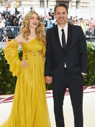 Amanda Seyfried and Thomas Sadoski attends the 2018 Met Gala in New York City. Picture: Getty