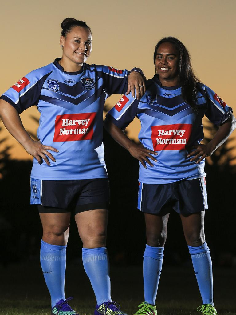 Womens NSWRL players Eliana Walton and Lavina Phillips. Picture: Dylan Robinson
