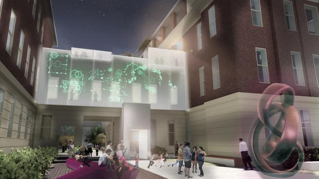 An artist's impression of what the innovation centre at the Old Royal Adelaide Hospital site will look like.
