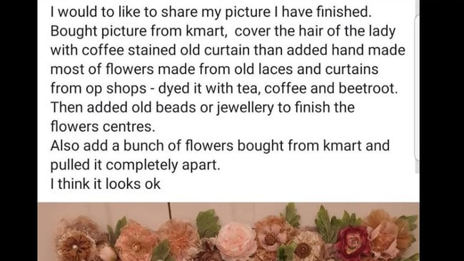 The woman behind the 'hacked' Kmart print revealed how she went to considerable trouble to make over the picture. Picture: Kmart unhacks and roasts