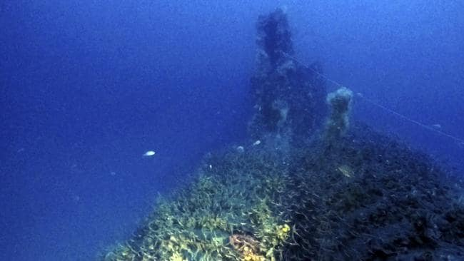 Ghostly find: A partial view of the wreck. Picture: Massimo Bondone via AP
