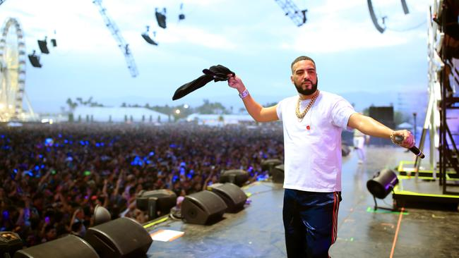 French Montana performs at Coachella. Look at the size of that crowd.