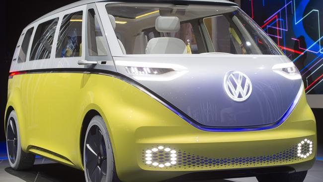 Volkswagen ID Buzz electric people mover concept is a modern version of the venerable Kombi.