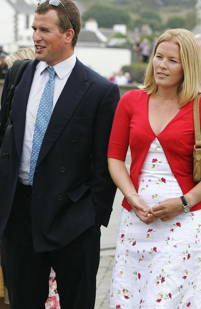 Peter Phillips and his then girlfriend Autumn Kelly in 2006. Picture: AP Photos/Andrew Milligan/PA Archive