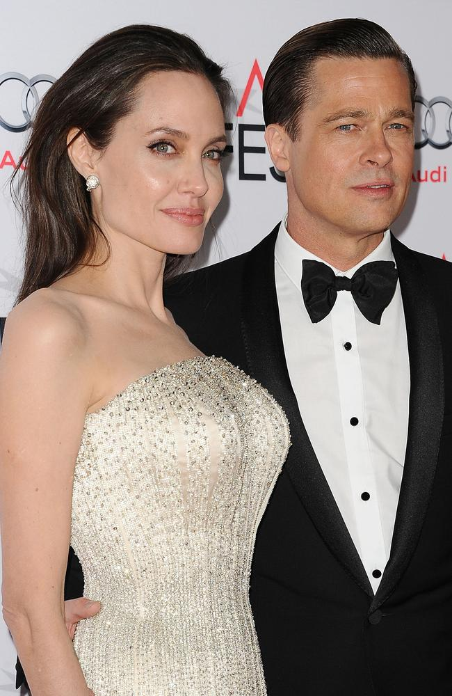 Brad Pitt and Angelina Jolie in happier times. Picture: FilmMagic