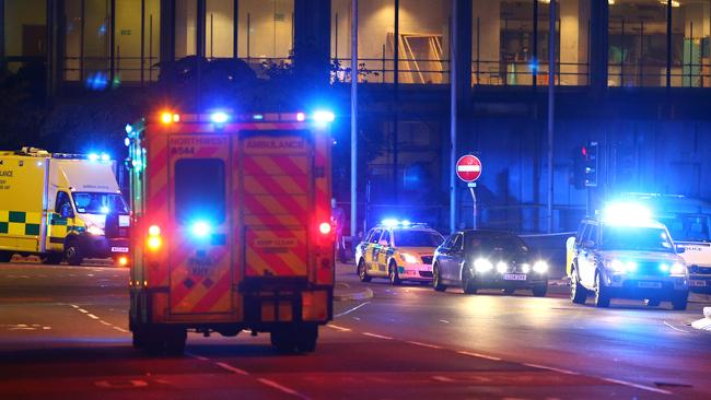 Emergency services arrive at the Manchester Arena. Picture: Dave Thompson/Getty Images