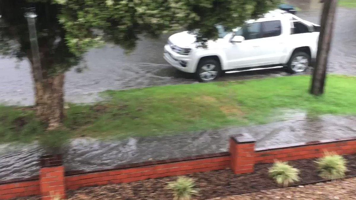 Flash Flooding Hits Melbourne as Storms Cause Travel Disruption. Credit - Twitter/Thomas Lim via Storyful