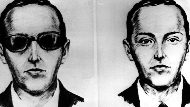 McNally was inspired by hijacker DB Cooper, who jumped from a plane with $200,000 in 1971 and disappeared without a trace. Picture: AP
