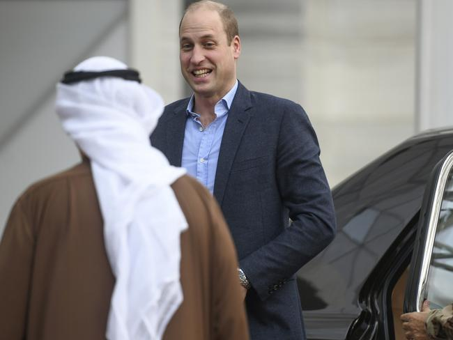 Prince William Duke of Cambridge visits the Sheikh Abdullah Al Salem Cultural Center in Kuwait City, Kuwait. Picture: AP Photo/Jaber Abdulkhaleg