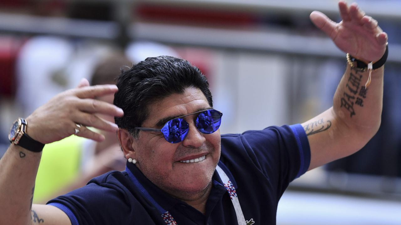Diego Maradona has apologised for questioning the referee.
