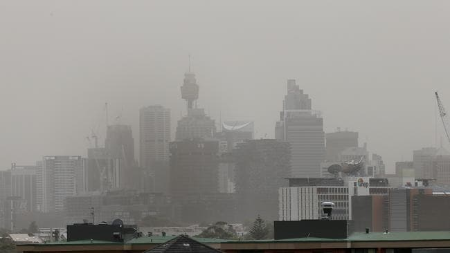 Sydney covered in a blanket of dust. Picture: Toby Zerna