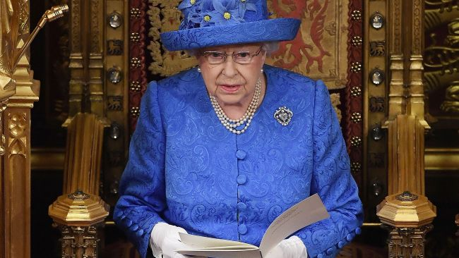 The Queen does not care for flashy displays of wealth. Except for gold thrones and that. Picture: Carl Court Source: AFP
