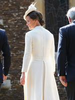 Pippa Middleton, sister of Catherine the Duchess of Cambridge arrives for her niece Charlotte's Christening at St. Mary Magdalene Church in Sandringham, England, on July 5, 2015. Picture: AFP