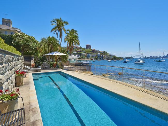 The property comes with a harbourside pool as well as having direct access to a harbourside beach.