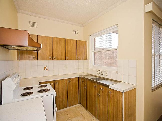 The kitchen of U5/49-51 Gerrale Street, from when it was sold for $441,000 in 2010. Picture: realestate.com.au