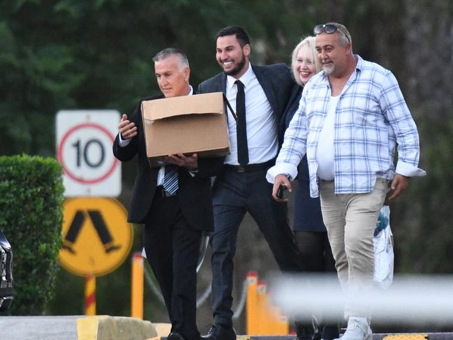 Salim Mehajer grins leaving Silverwater jail in April, but was returned behind bars three months later. Picture: Brendan Esposito