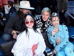 Billy Ray Cyrus, Noah Cyrus, Ellen DeGeneres, and Miley Cyrus poses during the 2017 MTV Video Music Awards at The Forum on August 27, 2017 in Inglewood, California. Picture: Getty
