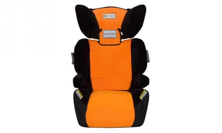 "INFA VARIO CAPRICE BOOSTER SEAT: Brighten up the kindy run with a pop of citrus thanks to this colourful booster seat. It scores top marks for safety, too - the blow moulded design results in enhanced side impact protection with the headrest side wings acting like airbags, greatly reducing the forces on your child's head in a side impact accident. For ages from four to eight years.  <a href=""http://www.mybabywarehouse.com.au/infa-vario-caprice-booster-seat-orange-swirl.html"">BUY IT HERE</a>"