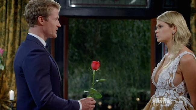 Megan declines Richie's red rose