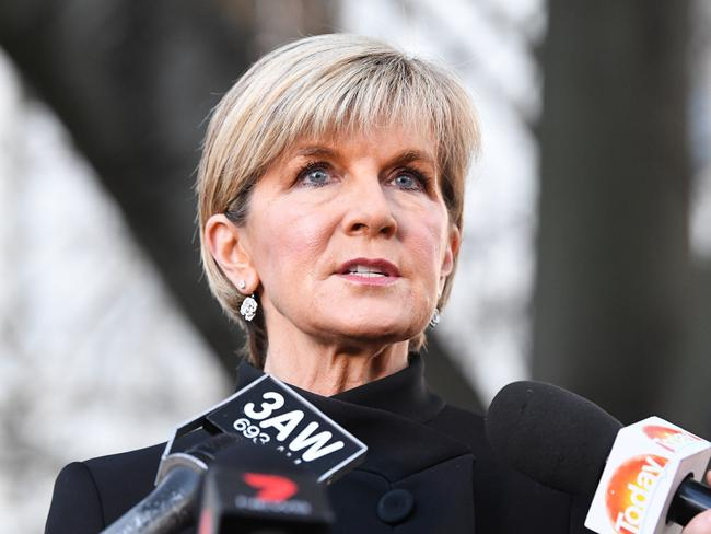 Australian Foreign Affairs Minister Julie Bishop confirmed one Australian woman has been hospitalised, and two young Australian men were also caught up in the Barcelona attack. Picture: Joe Castro/AAP