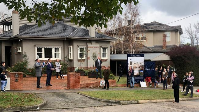 There were three bidders in the small crowd for the Ashburton house.