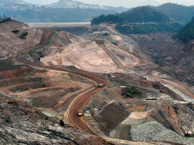 A current view of Fundao dam, Samarco's iron ore waste dam in Mariana, Minas Gerais state, Brazil in 2017. Picture: AFP
