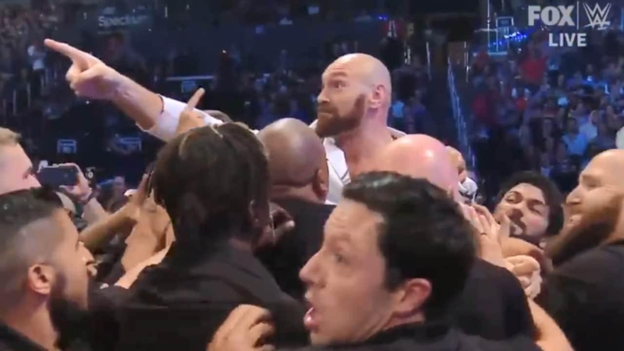 Tyson Fury on WWE Smackdown. Credit: WWE