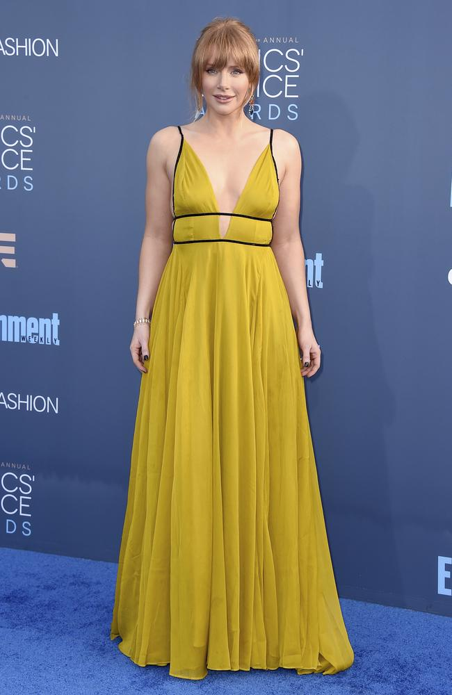 Bryce Dallas Howard looked like a million bucks at the 22nd Critics' Choice Awards. Picture: Jordan Strauss/Invision