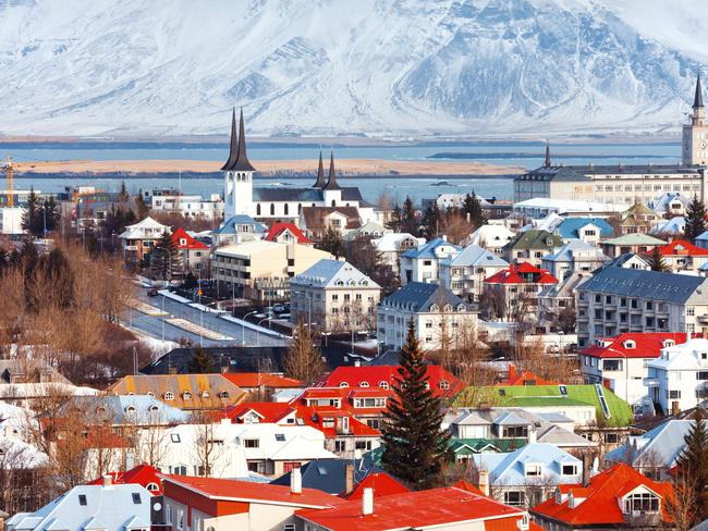 Iceland came in at number two on the list proving that you can be happy in the cold.
