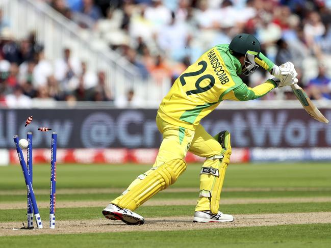 Peter Handscomb missed it by that much.