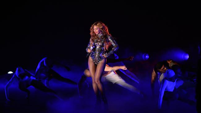 Beyonce on stage at the MTV Video Music Awards. Picture: AFP