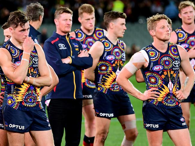 Rory Sloane and Adelaide looked utterly broken.