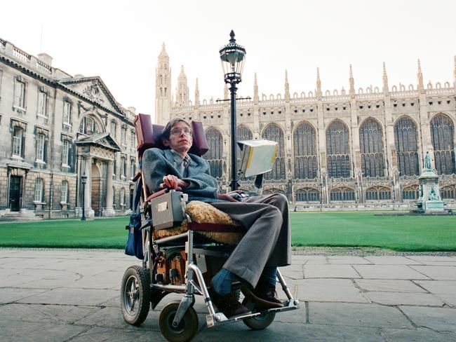 Professor Stephen Hawking Physics at Cambridge University in 1988. Picture: Brian Randle/Mirrorpix