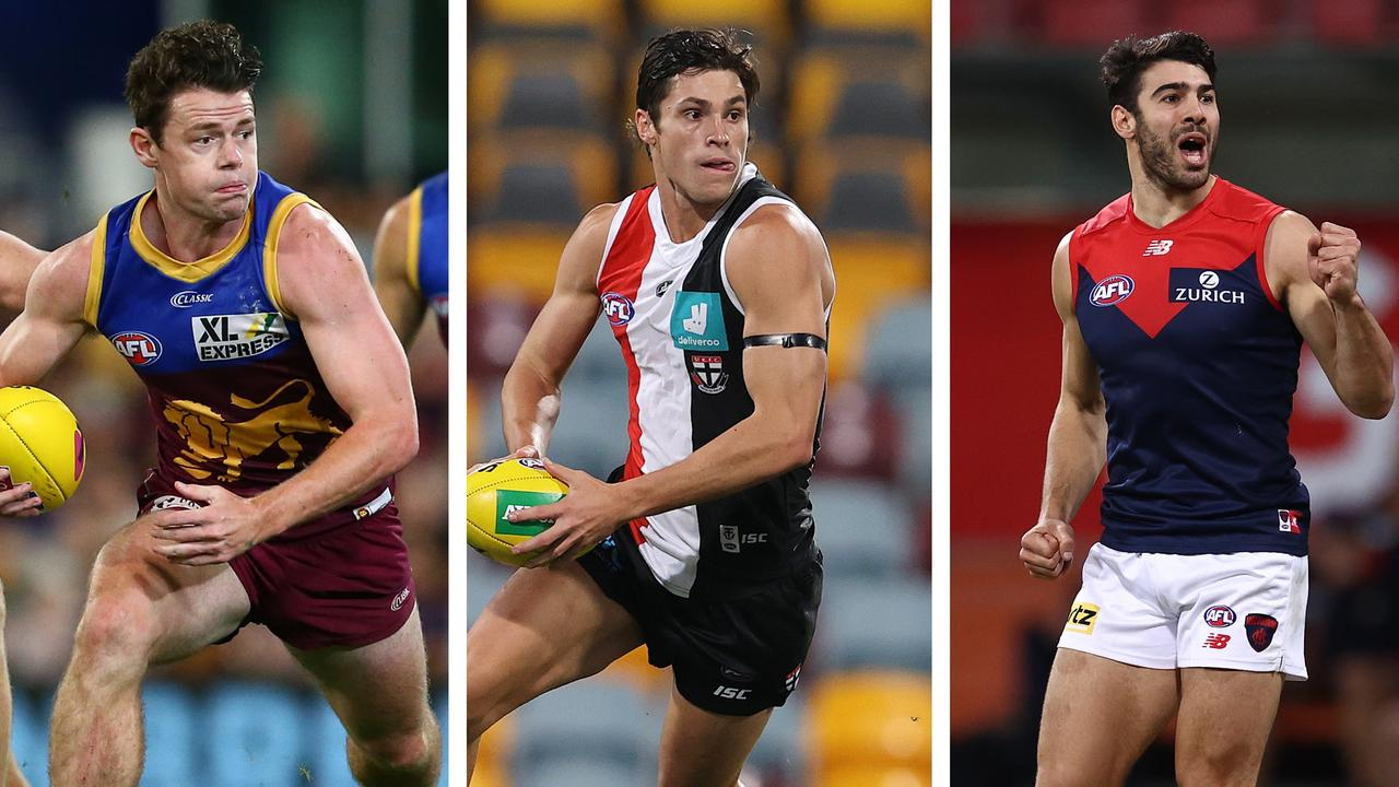 Brownlow Medal Predictor 2020: Lachie Neale, Jack Steele and Christian Petracca.