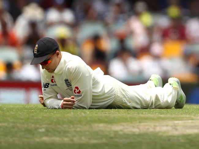 Down and out? England captain Joe Root on day five of the Gabba Test.