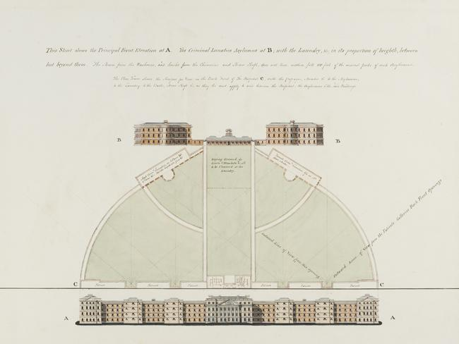 The first plans for an asylum designed by one of the residents.