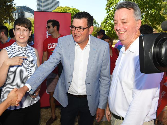 Victorian Premier Daniel Andrews made the announcement at the pride march. Picture: James Ross/AAP