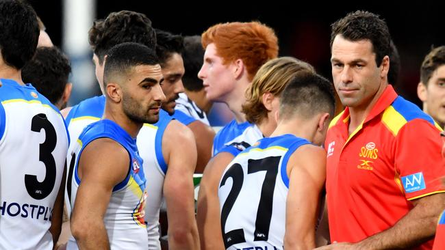 Dean Solomon and the Gold Coast Suns. (AAP Image/Darren England)