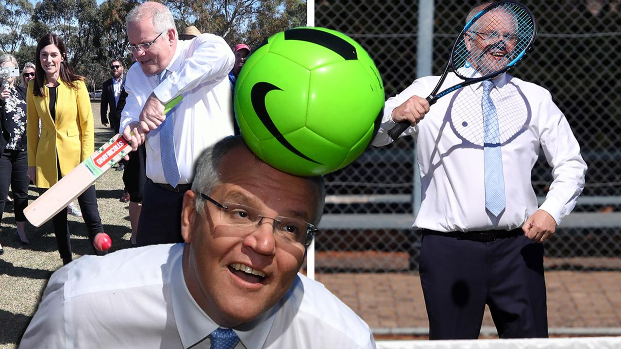 Scott Morrison has a ball