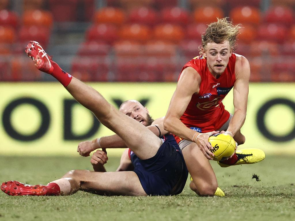 Hugh Greenwood is among the league's top contested ball winners. Picture: Cameron Spencer