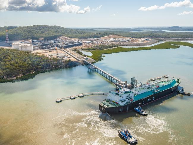 The Santos liquefied natural gas plant in Gladstone, Queensland has enabled companies to ship gas from the east coast of Australia overseas. Picture supplied by Santos