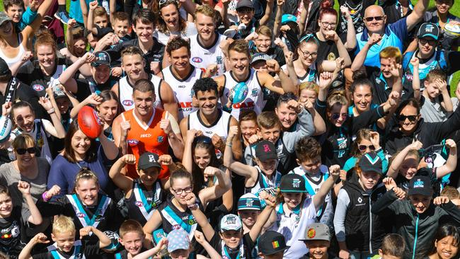 Port Adelaide recruits Tom Rockliff, Jack Watts, Steve Motlop, Jack Trengove, Trent McKenzie and Lindsay Thomas are already a hit with Power fans.