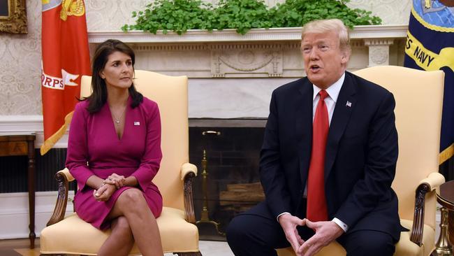 Donald Trump sang glowing praises of Nikki Haley.