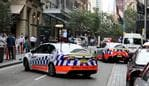 Heightened security measures around the Pitt St area during the 2018 ASEAN Summit being held in Sydney. Police block traffic for ASAEAN Officials coming out of The Westin Hotel. Friday 16 March (Daily Telegraph / Photo by Chris Pavlich)