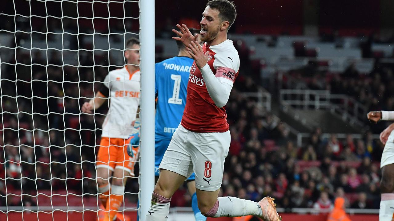 Ramsey played in Arsenal's Carabao Cup win over Blackpool.