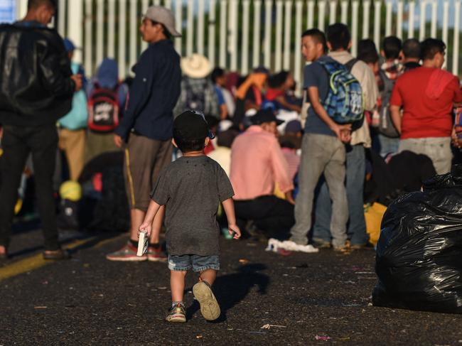 The President said he has alerted border patrol and the military to a 'national emergency' as desperate families head to the US. Picture: Orlando Sierra / AFP