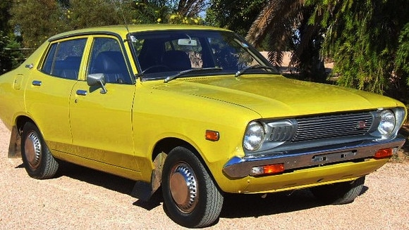 Coupe delight: Sebastian's first car was a Datsun 120Y.